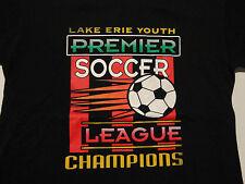 Premier Soccer League Champion T Shirt Black Soft Free Shipping size Large
