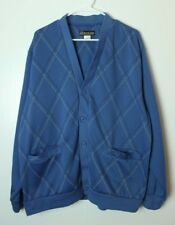 Haband Men's XL Blue Cardigan Button Up Sweater