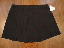 Cute NWT LG Black Ribbed BOLLE TECH Tennis Golf Running Skirt Skort Pleated Hem