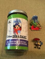 Disney Sleeping Beauty 3 Fairies and Jiminy Cricket Ink & Paint Mystery Pin Set