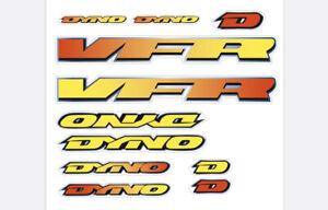 Dyno VFR 1994 Decal Set old school BMX Restoration Orange & Yelliw fade