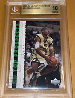 2003-04 LeBron James UPPER DECK PROSPECTS ROOKIE #3 BGS 10 PRISTINE PSA RC Kobe