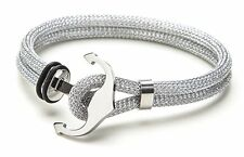 Vice Bracelet Silver Double Mesh / Silver Anchor Small 7 inch
