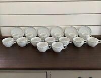 21 Pc Alitalia Italian Airline Porcelain Demitasse Tea Cups Saucers Vintage Logo