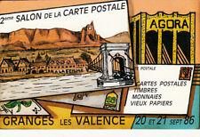 GRANGES-LES-VALENCE 1986 2 ème salon carte postale crussol
