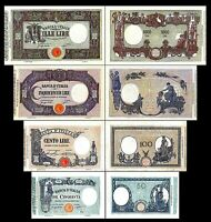 2x  50 - 1.000 Lire - Ausgabe 1896 - 1924 - Reproduktion - 14