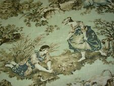 "~17 5/8 YDS~SWAVELLE/MILL CREEK~"" VICTORIAN TOILE ""~UPHOLSTERY FABRIC FOR LESS~"