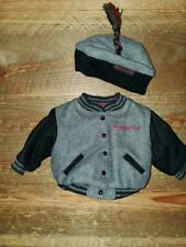 American Girl Doll Today Gray Varsity Wool Jacket and Hat