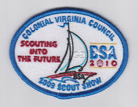 100 YEARS OF BOY SCOUTS OF AMERICA COLONIAL VIRGINIA COUNCIL SCOUT 2010 PATCH
