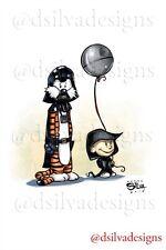 Calvin & Hobbes As Darth Vader  And The Emperor Star Wars 11x17 Print