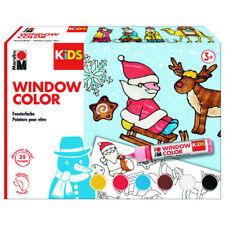 MARABU KiDS Window Color Set Fenster Malfarben Weihnachten Kinder Christmas 6tlg