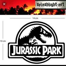 Jurassic Park logo Vinyl Decal Sticker 14cm black for Car Wall Laptop etc Trex