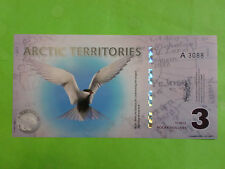 Arctic Territories $3 Polymer (UNC) 2011
