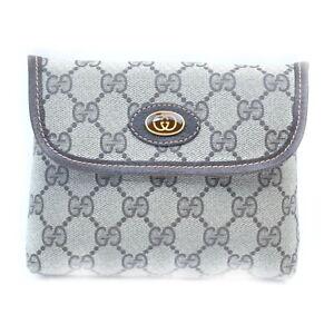 Vintage Gucci Accessories Pouch Bag GG Beiges PVC 2201675