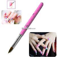 New Brush Powder Acrylic NO.8 Tool Pink Nail Carving Pen Art Crystal Pen ESY1