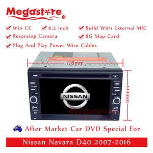 "6.2"" Car DVD GPS Head Unit Player Stereo Radio Navi For Nissan Navara D40"