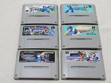 Rockman Forte X3 X2 7 X Mega Man Lot of 6 sfc snes Famicom  Rock Man Megaman