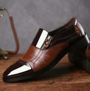 Büro Anzug Herren Lackleder Schlupf Business-Schuhe Runde Zehe Formell 46