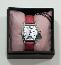 NIB Juicy Couture Dalton Mother of Pearl Watch w Date & Second Hand, New Battery