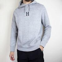 HUF Worldwide Pullover Hoodie Marl Grey Mens Medium