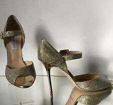 NEW JIMMY CHOO Metallic Glitter Mary Jane Pumps (Size 41)