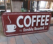 GROSSES DINER BLECHSCHILD COFFEE CAFE BAR WANDDEKO BISTRO REKLAMESCHILD METALL