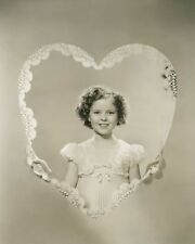 Shirley Temple Valentines Day heart child movie star 8x10 photo