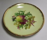 Vintage Royal Grafton Saucer - Yellow with Fruit - Gold Edge - Made in England