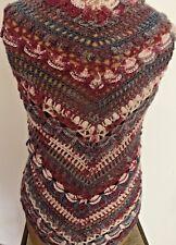 Scialle fatto a mano  misto lana multicolore