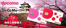 4G/3G 7Days Unlimited Data Prepaid Sim Card Japan