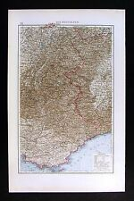 1896 Andrees Map French Italy West Alps France French Riviera Nice Cannes Toulon