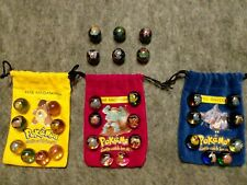 Pokemon Marble Lot 3 Bags & 30 Marbles 6 Holo Rares
