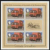GRENADA GRENADINES 1979 ROWLAND HILL CENTENARY 15c SOUVENIR SHEET MNH