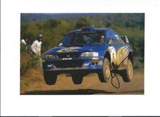 Juha Kankkunen è SUBARU IMPREZA WRC99 RALLY ARGENTINA 1999 firmato Fotografia