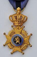 Belgique: Croix d'officier de l'ordre de Léopold II, avec glaives