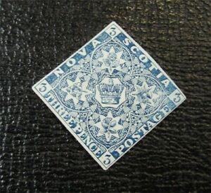 nystamps Canada Nova Scotia Stamp # 3 Mint OG H UN$2200 VF   F26x2236