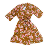 Roxy BNWT Floral Wrap Dress Women's Size Small RRP $119.00