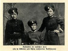 1914 Kampf in Russisch-Polen * Kalmücken Flintenweiber *  WW1