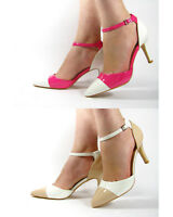 Womens Party Stiletto High Heels Pointed Ankle Strap Buckle Sandals Shoes Size