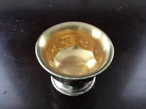 Vintage Gold Washed Individual Salt Dish Cellar 800 Silver