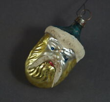 Antique Blown Glass Ornament - Santa head ca. 1930   (# 11647)