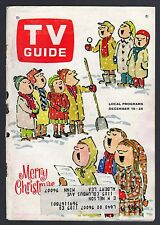 1964 CHRISTMAS TV GUIDE COVER ONLY~CHILDREN CAROLERS by WILLIAM STEIG DRAWING