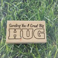 Stampabilities Rubber Stamp Sending You A Great Big Hug