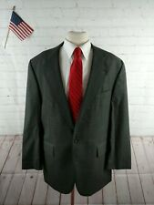 Amherst & Brock Mens Plaid Gray Wool Two Button Blazer  Suit Jacket 42 $315