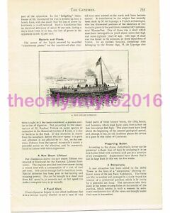 New Steam Life Boat, Victorian Invention, Book Illustration (Print), 1890