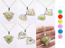 Harmony Ball Pendant Lockets Essential Oil Perfume Diffuser Necklace Love Heart