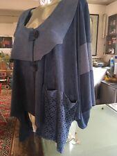 """Turbulence""Lagenlook Stretch Poncho Cape Jacket Kimono Soft Suede Feel XL-5XL"