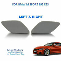 Pair Headlight Washer Nozzle Cover for BMW E92 2006-09 61677171659 616771716609