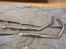 HARLEY SPORTSTER IRONHEAD 1957 THRU 1978 CHROME EXHAUST PIPES 1-3/4 INCH 30-3010