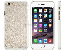 "NEW European-style Floral Print Plastic Protective case for 4.7"" iPhone 6 White"